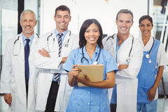Portrait of medical team standing together Stock Images