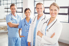 Portrait of medical team standing together Stock Photography
