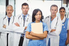 Portrait of medical team standing together Royalty Free Stock Image