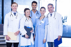 Portrait of medical team standing together Stock Photo