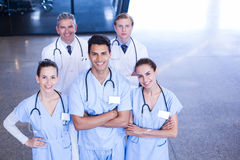 Portrait of medical team standing together Royalty Free Stock Photography