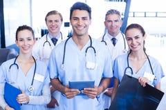 Portrait of medical team standing together Stock Image