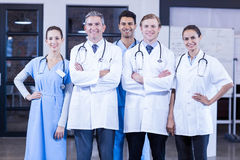 Portrait of medical team standing together Stock Image
