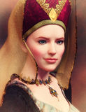 Portrait of a Medieval Lady Royalty Free Stock Images