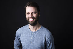 Portrait of a men with beard and mustache in Royalty Free Stock Photo