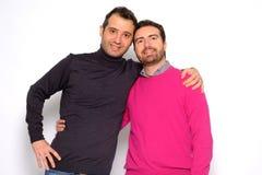 Portrait of a men gay couple Stock Image