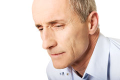 Portrait of a men with painful facial expression Royalty Free Stock Image