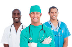 Portrait of men's medical team Stock Photography