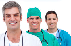 Portrait of a men's medical team Royalty Free Stock Photo