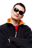 Portrait men in sunglasses Royalty Free Stock Photo