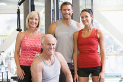 Portrait Of Men And Women At The Gym Stock Image