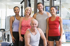 Portrait Of Men And Women At The Gym Stock Photography