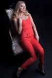 Portrait merveilleux de mode des femmes avec du charme Image stock
