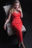 Portrait merveilleux de mode des femmes avec du charme Photographie stock libre de droits