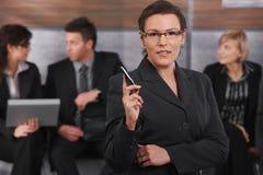 Portrait of mid-adult businesswoman Stock Photo