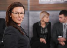 Portrait of mid-adult businesswoman Royalty Free Stock Photo