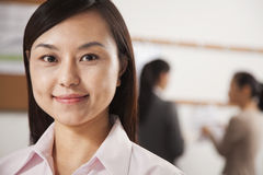 Portrait of mid adult businesswoman in the office Stock Images