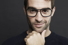 Portrait of mid adult man wearing glasses Stock Image