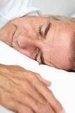 Portrait of mid age man sleeping Royalty Free Stock Photos