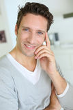 Portrait of middel-aged man smiling at camera Royalty Free Stock Image