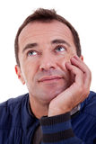 Portrait of a middle-age man looking up Stock Photo
