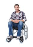 Portrait of middle age man in wheelchair Stock Photos