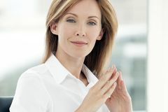 Portrait of a corporate business executive woman royalty free stock image