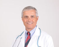 Portrait of Middle aged Doctor Stock Photos