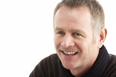 Portrait Of Middle Aged Man. Smiling Royalty Free Stock Photography