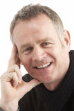 Portrait Of Middle Aged Man. Smiling Royalty Free Stock Images
