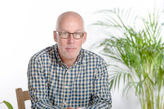 Portrait of a middle-aged man stock photo