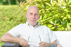 Portrait of a middle-aged man Stock Image