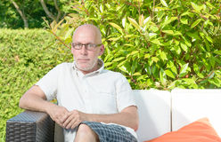 Portrait of a middle-aged man. Outdoor royalty free stock photography