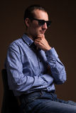 Portrait of middle aged man in sunglasses Stock Image