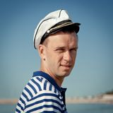 Portrait of Middle-aged sailor Royalty Free Stock Photography