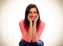Portrait of a middle-aged smiling woman Stock Image