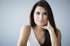 Portrait of middle aged woman Royalty Free Stock Images