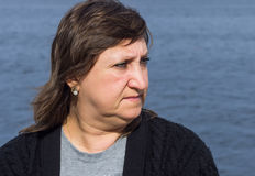 Portrait of middle-aged woman Stock Photo
