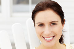 Portrait of middle aged woman outdoors Stock Photography