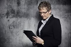 Portrait of a middle-aged woman Royalty Free Stock Photo