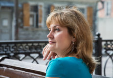Portrait of middle-aged women Royalty Free Stock Photo