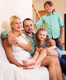 Portrait of middle class family Royalty Free Stock Images