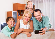 Portrait of middle class family Stock Images