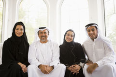 Portrait of a Middle Eastern family Royalty Free Stock Photo