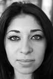 Portrait of a Middle Eastern Girl. In Black and White Royalty Free Stock Photography