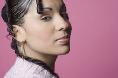 Portrait of Middle Eastern Woman lips puckered in Stock Photography