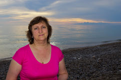 Portrait of middleaged woman Stock Photo