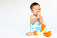 Portrait mignon de bébé de bébé image libre de droits