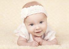 Portrait mignon de bébé Image libre de droits