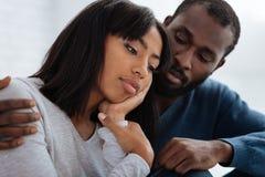 Portrait mignon de deux personnes romantiques Photo libre de droits